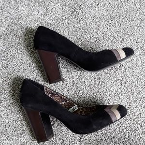 Missoni  Target black brown chevron heels shoes